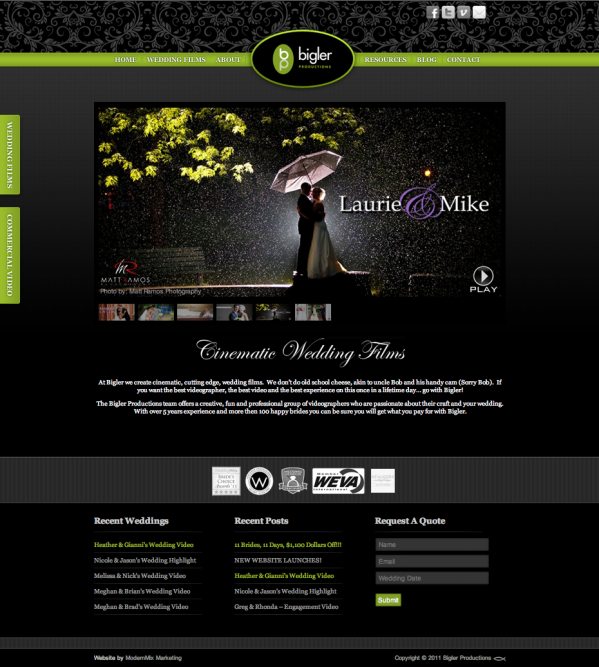 Bigler Productions New Website